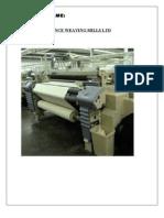 Term Paper of Reliance Weaving Ltd