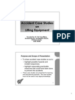 Accident Case Studies on Lifting Equipment