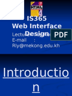 Web Interface & Design