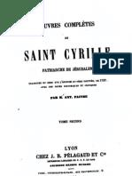 Cyrille Jerusalem Opera Omnia 2