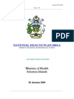 National Health Plan-Ministry of Health Solomon Islands