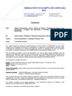 Codicader Primarios - Control Calsificatorio 2012