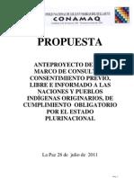Anteproyecto de Ley Marco de Consulta y Consentimiento Previo, Libre e Informado a las Naciones y Pueblos Indígenas Originarios - Conamaq