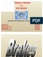 A Project Report on Disc Brake