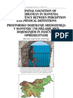 The spatial cognition of Mediterranean in Slovenia