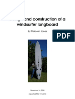 Design and construction of a windsurfer longboard