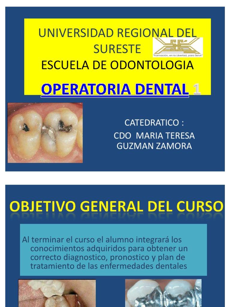 Clase de Operatoria Dental 1