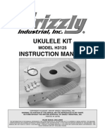 Grizzly Ukulele Kit H3125 Manual