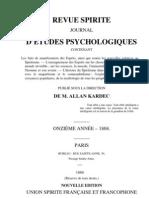 Spiritisme Allan Kardec (français) La Revue Spirite 1868