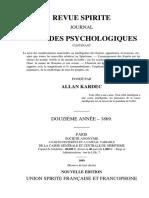 Spiritisme Allan Kardec (français) La Revue Spirite 1869