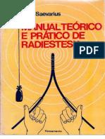 Radiestesia - Manual Teórico E Prático De Radiestesia - Dr E Saevarius+