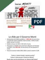 Facciamo il punto sul Governo Monti