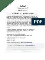 SNC Press Release - An Invitation to a Press Conference