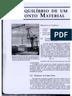 Cap. 3 - EQUILÍBRIO DE UM PONTO MATERIAL