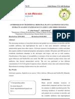Anti Bio Gram of Traditional Medicinal Plant Calotropsis Gigantea
