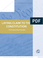 Laying Claim to the Constitution