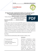 Reverse Phase-hplc Method Development and Validation for the Simultaneous Estimation of Azilsartan Medoxomil and Chlortalidone in Pharmaceutical Dosage Forms