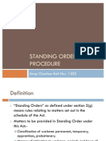 Standing Order and Procedure