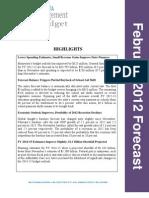 February 2012 Economic Forecast Summary 022912