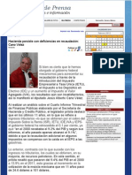 27-02-12 Hacienda persiste con deficiencias en recaudació Cano Vélez
