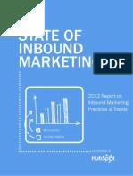 The 2012 State of inbound marketing (Hubspot) -Feb12