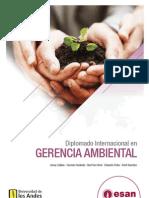 Tríptico Diplomado Internacional en Gerencia Ambiental