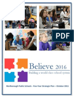 Here's Marlborough's Public Schools 5 Year Plan Final Believe 2016 and Scorecard 11-16-11