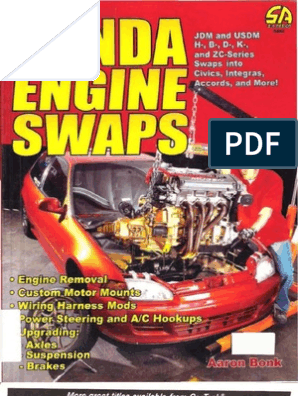 Honda Engine Swaps Book | Honda | Motor Vehicle Manufacturers Of Japan