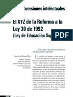 El XYZ de la Reforma a la Ley 30 de 1992