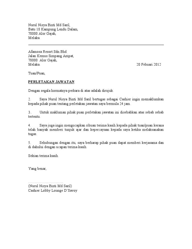16539020 Surat Perletakan Jawatan