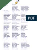 Complete List Cognates