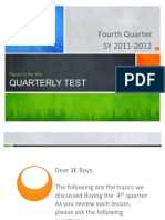 G2 Q4 Pointers for the Quarterly Test
