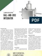 Ball and Disc Integrator