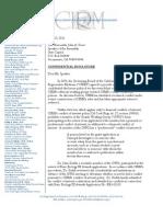 Sladek/CIRM Conflict of Interest Letter to California Legislative Leadership