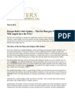 Europe - The Fat Man Gets Larger Clothes. Will Angels Save the USA? A Note from Willy/Gevers Wealth Management LLC March 2012 CA