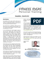 Fitness Ideas Newsletter - 1 March 2012