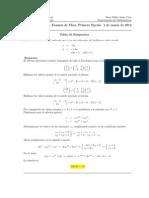 Examen de Mesa, Cálculo III, 1 de marzo de 2011