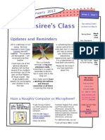 February 2012 Newsletter for Mrs. Desiree's Class