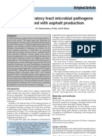 Human Respiratory Tract Microbial Pathogens Associated With Asphalt Production