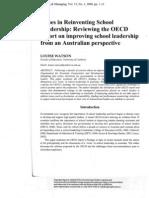Issues in Reinventing School Leadership