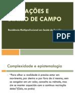 Anotações e Diarios de Campo p Residencia