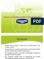 Presentation-Global Knowledge Management at Danone