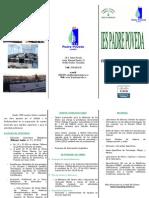 TRÍPTICO PREINSCRIPCIÓN PADRE POVEDA (2012)