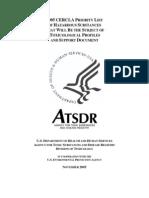 ATSDR Toxicology