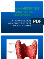 Calcium Homeostasis & Parathyroid Disorders