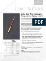 11 Metal Clad Thermocouples