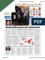 Avvenire - Romney batte la paura con i voti dei ricchi, di Paolo M. Alfieri, 01/03/12