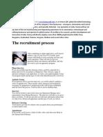 The Recruitment Process