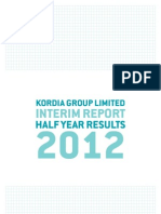 Kordia Interim Report 2012