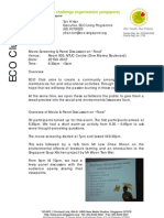 """[ECO Club] Report for Movie & Panel discussion on """"Food"""""""